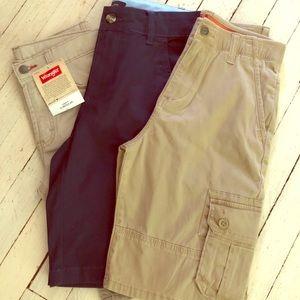 Boys Shorts NWT Wrangler & Tommy Hilfiger Size 12